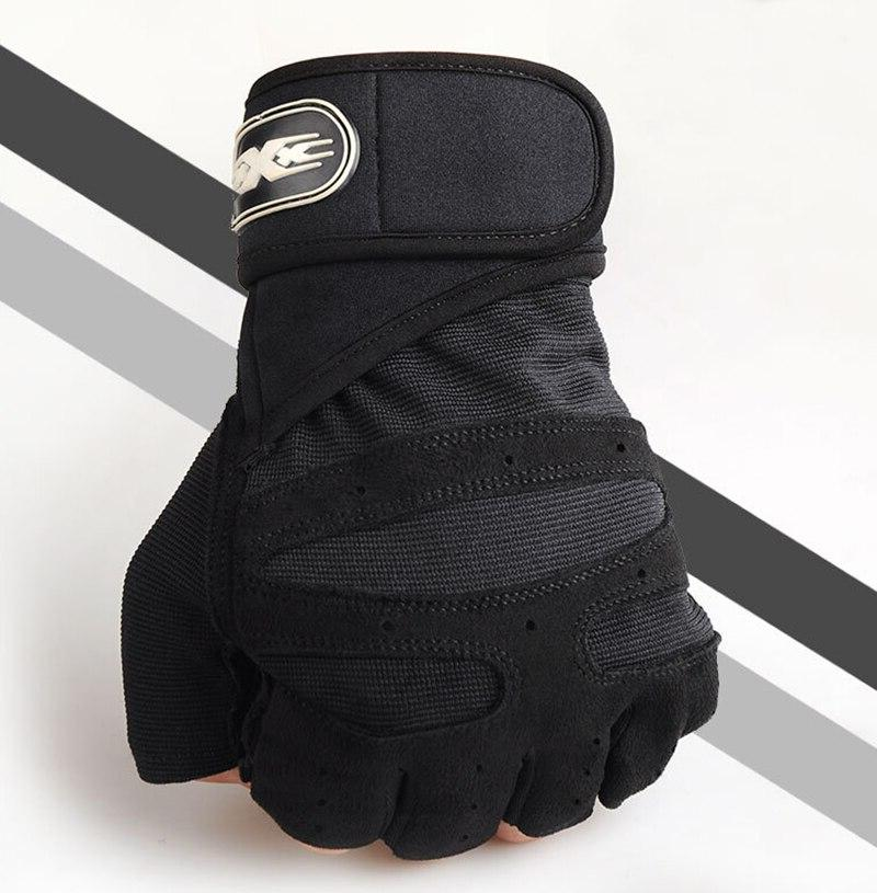 Men Heavyweight Half Finger Breathable Extended Wrist Bodybuilding