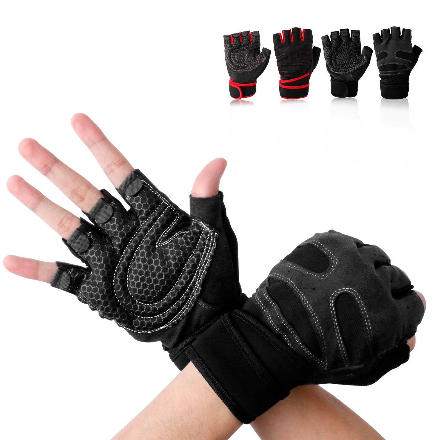 Men Wrist Gloves Lifting Weight Exercise