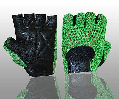 mesh leather weight lifting padded cycling exercise