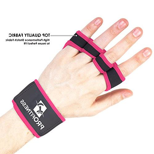 ProFitness Workout Gloves with Silicone – WODs, Training – Wrist Support – Unisex Men