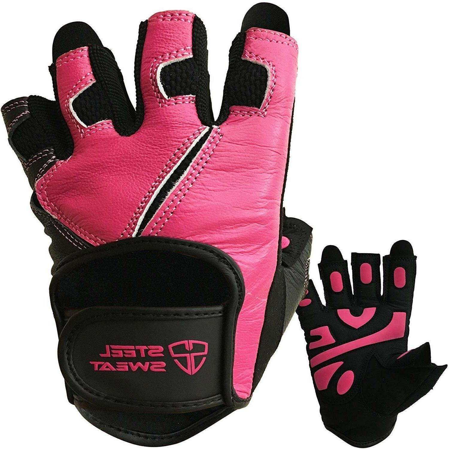 new scarr leather gloves weight lifting pink