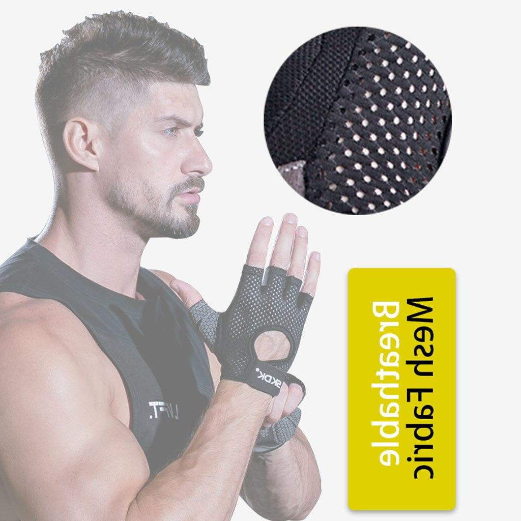 New Ventilated <font><b>Lifting</b></font> <font><b>Gloves</b></font> Full Palm Protection Pull-up Fitness Weightlift