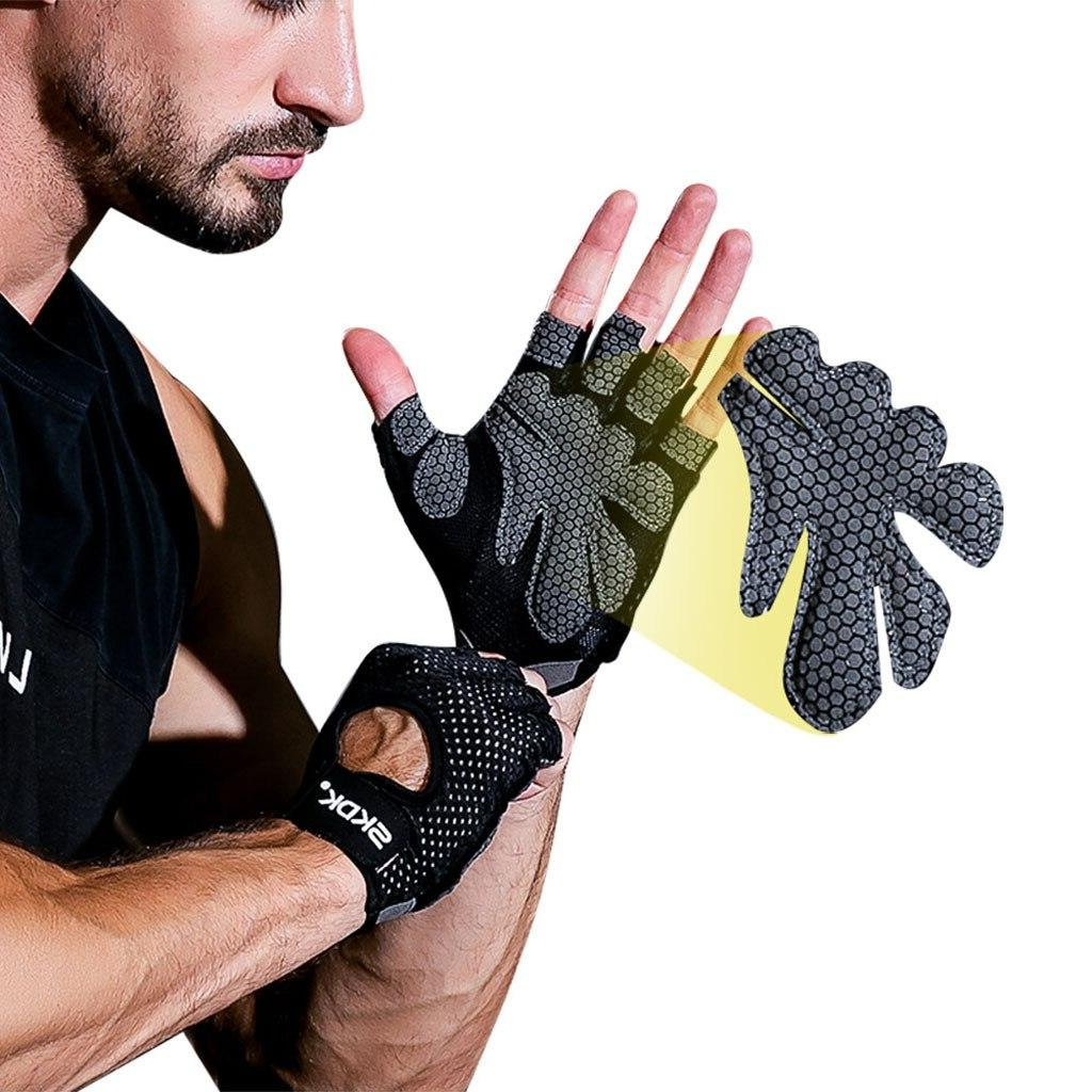 New Ventilated Weight <font><b>Lifting</b></font> Full Protection For Pull-up Weightlift luvas