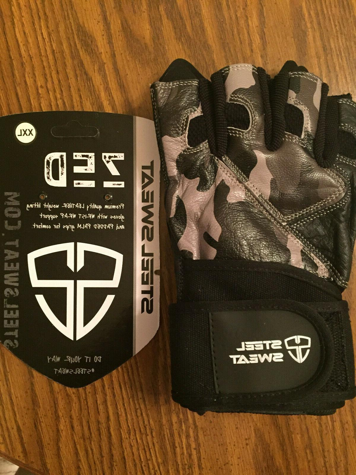 new zed gloves leather for weightlifting camo