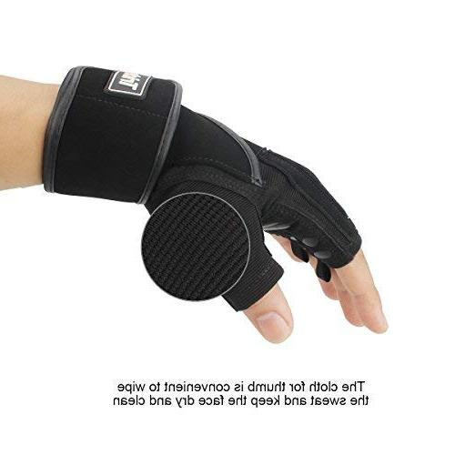 """Trideer Padded Weight Lifting Gloves 18"""" Wraps Pro Gloves Training, )"""