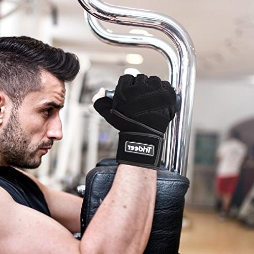 """Trideer Gloves with 18"""" Wraps Support, Gloves for Training, Workout, Best Men )"""
