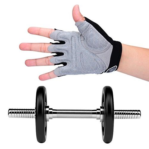Padded Weight Lifting Gloves for Gym Fitness Training, lifting, and CrossFit, Men