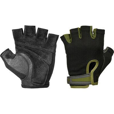 power weight lifting gloves black green