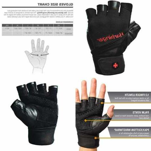 pro wristwrap weightlifting gloves w vented cushioned