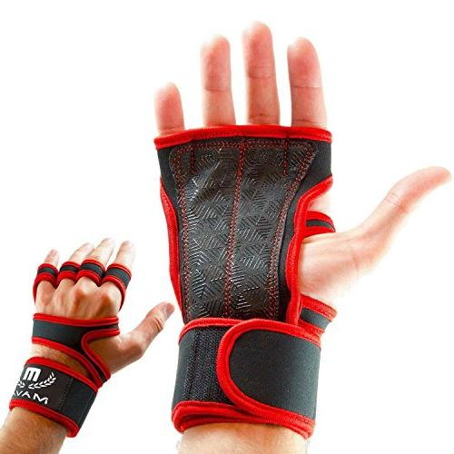 silicone padded gym workout gloves