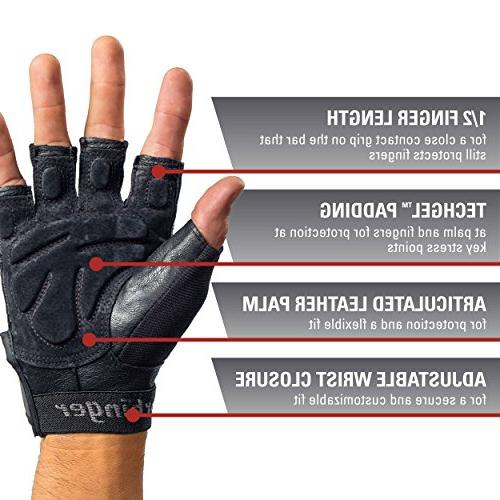 Harbinger Grip Weightlifting Gloves with Leather