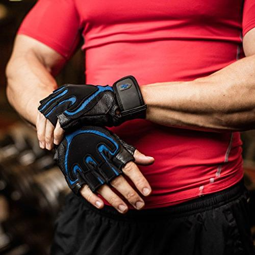 Harbinger Weightlifting Gloves with Leather Palm ,