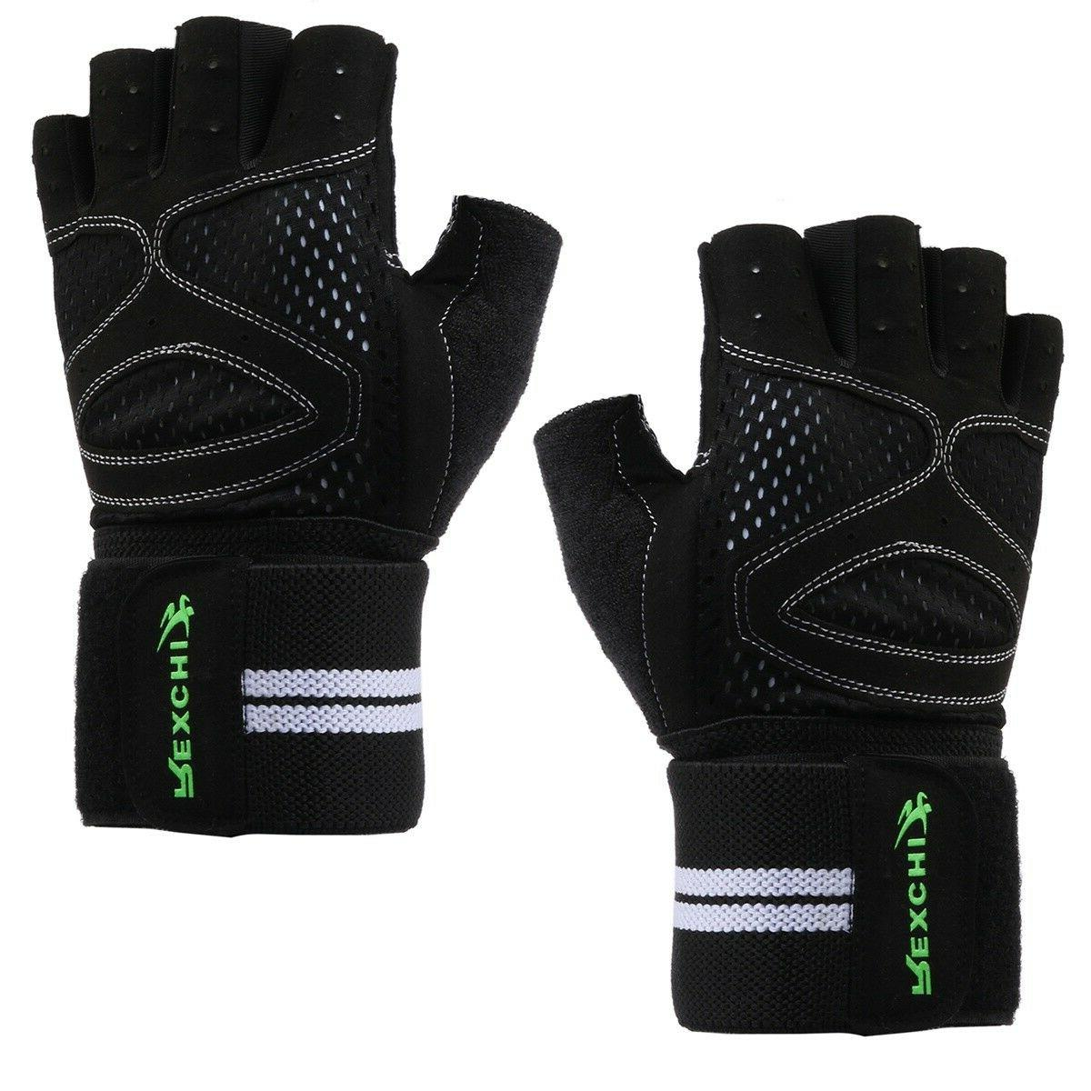 training grip wrist wrap weightlifting gloves full