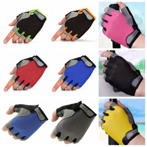 Unisex Gym Half Gloves Weightlifting Workout Exercise Fitness