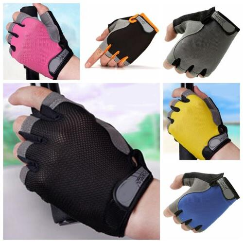 unisex gym half finger gloves weightlifting workout