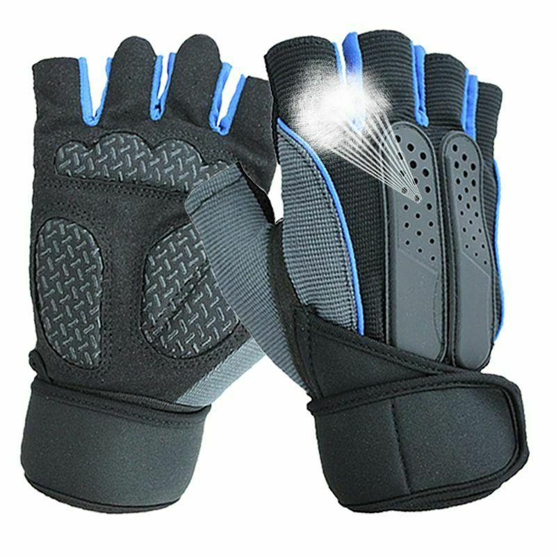 Unisex Sports Gloves Weightlifting Exercise Training Gyms Fi
