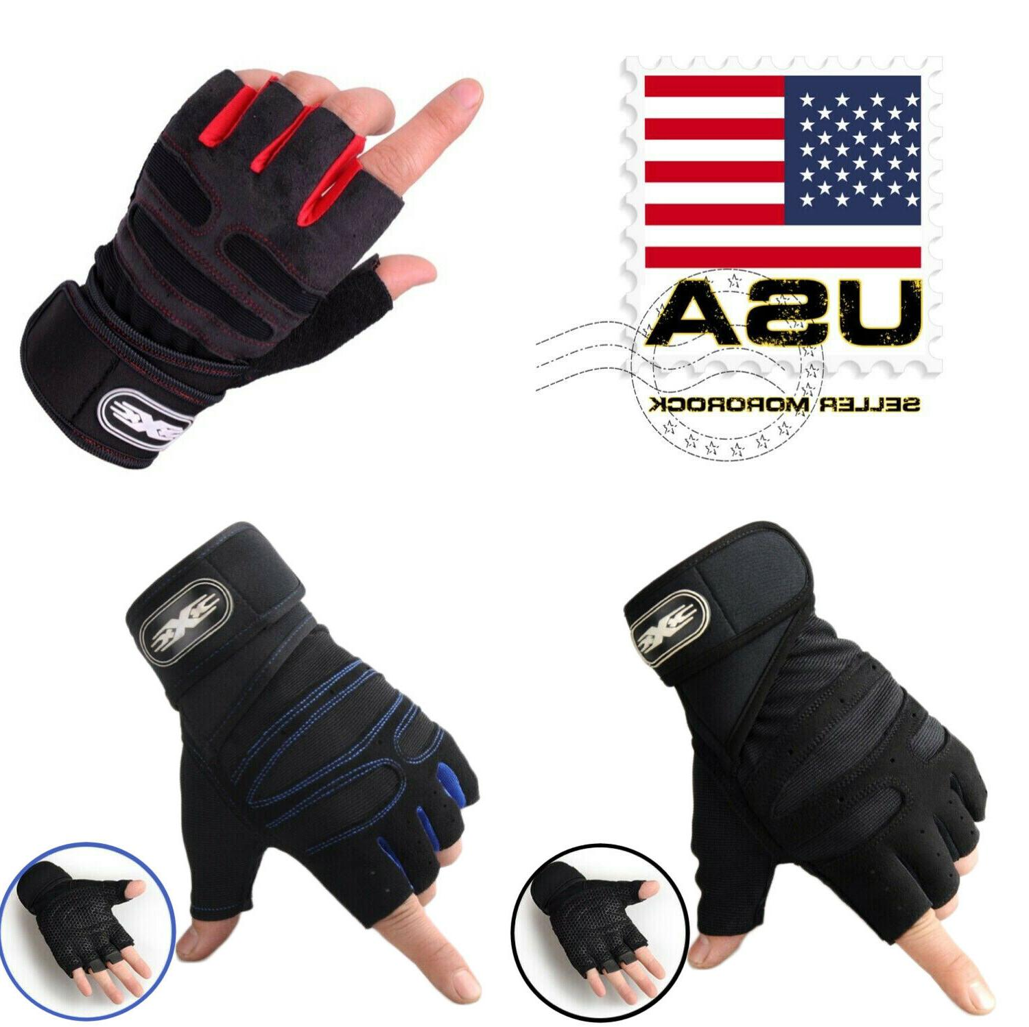 us women men gym gloves with wrist