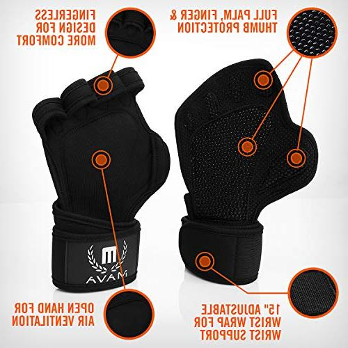 Mava Ventilated Gloves Wraps and Palm & No Calluses. Perfect for Pull Ups, Cross Training, WODs