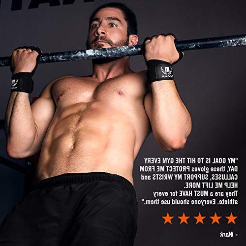 Mava Sports Ventilated Gloves Wraps and Silicone & for Pull Ups,