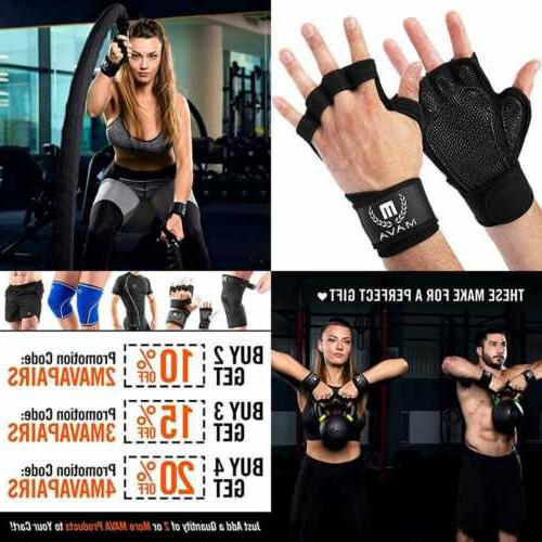 ventilated workout gloves w integrated wrist wraps