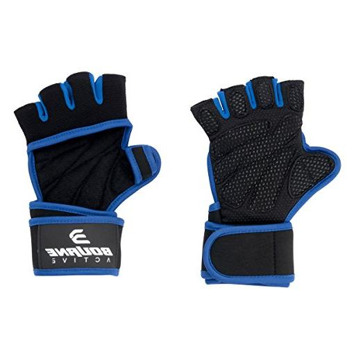 with for Men Women, Padding, Extra Grip, Calluses. Weightlifting, Cross - Small Blue.
