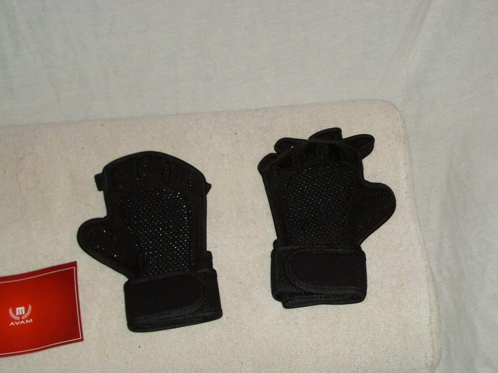 Mava Ventilated Training Support Gloves Wrap Black