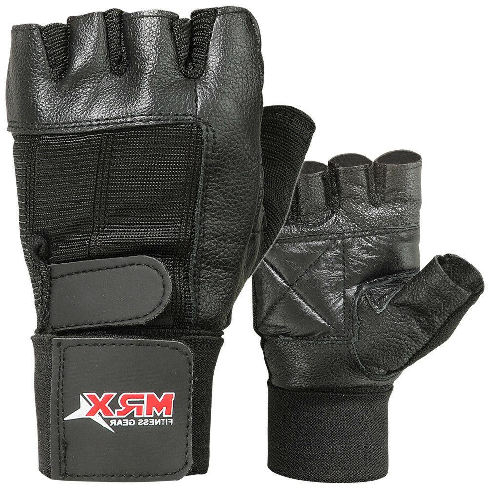 weight lifting gloves cowhide leather fitness glove
