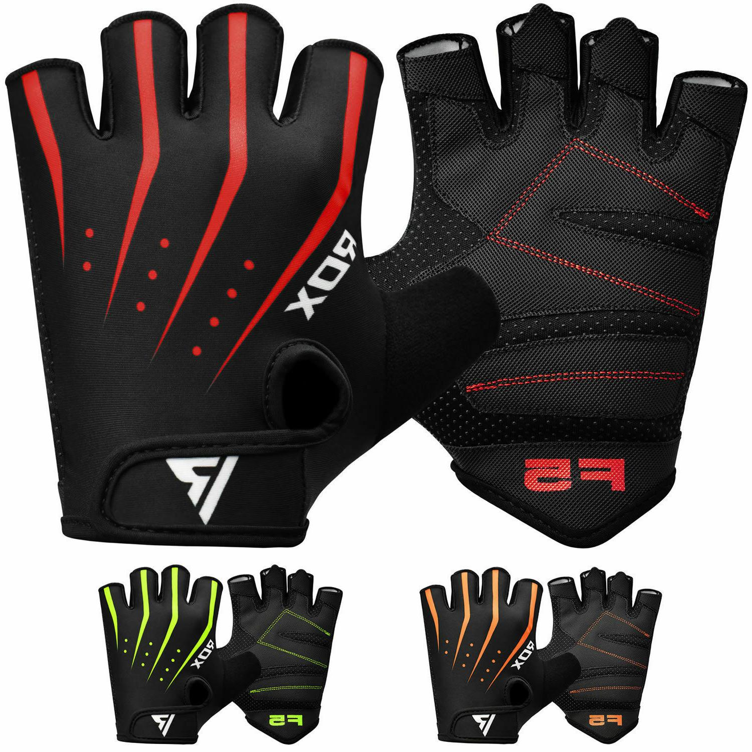 RDX Weight Lifting Gloves Wrist Straps Gym Power Support Training Grip