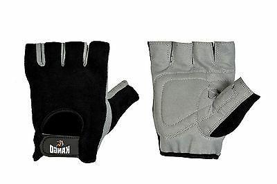 weight lifting grey gym padded training gloves