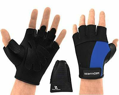 weight lifting gym gloves fingerless durable medium