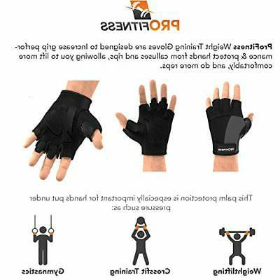 ProFitness Weight Gloves | Durable Black/Black