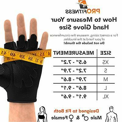 ProFitness Weight Gloves Black/Black