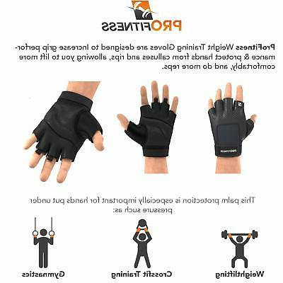 ProFitness Lifting Gloves Palm Protection, Durable Padded