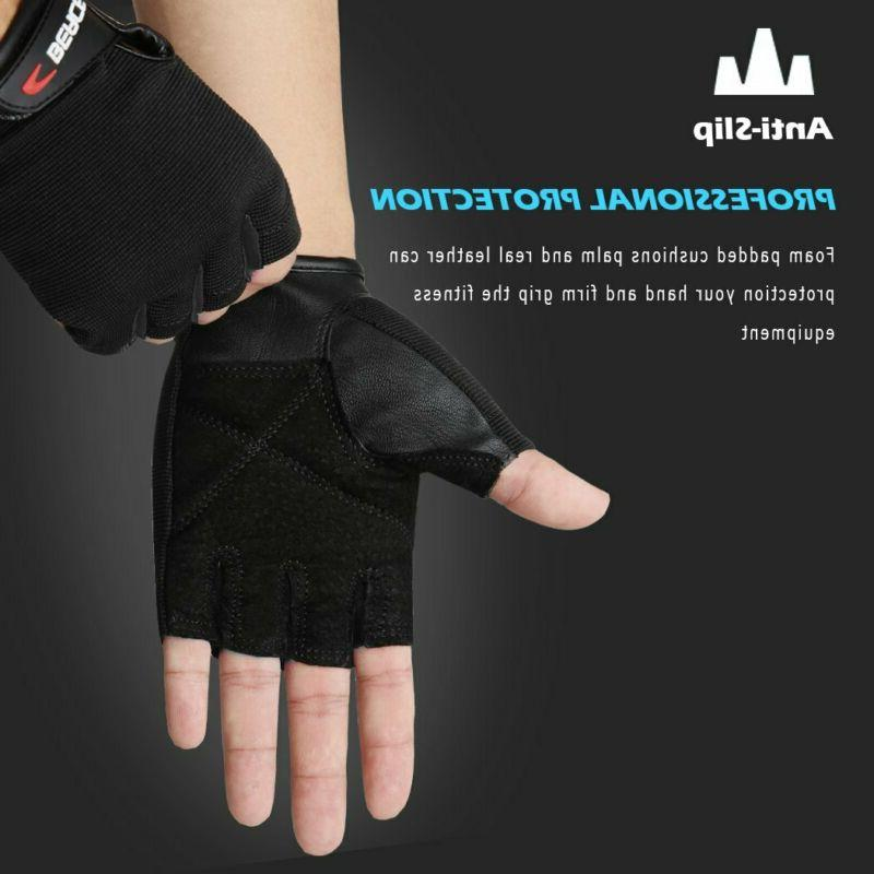 Gloves With Leather Palm For Workout