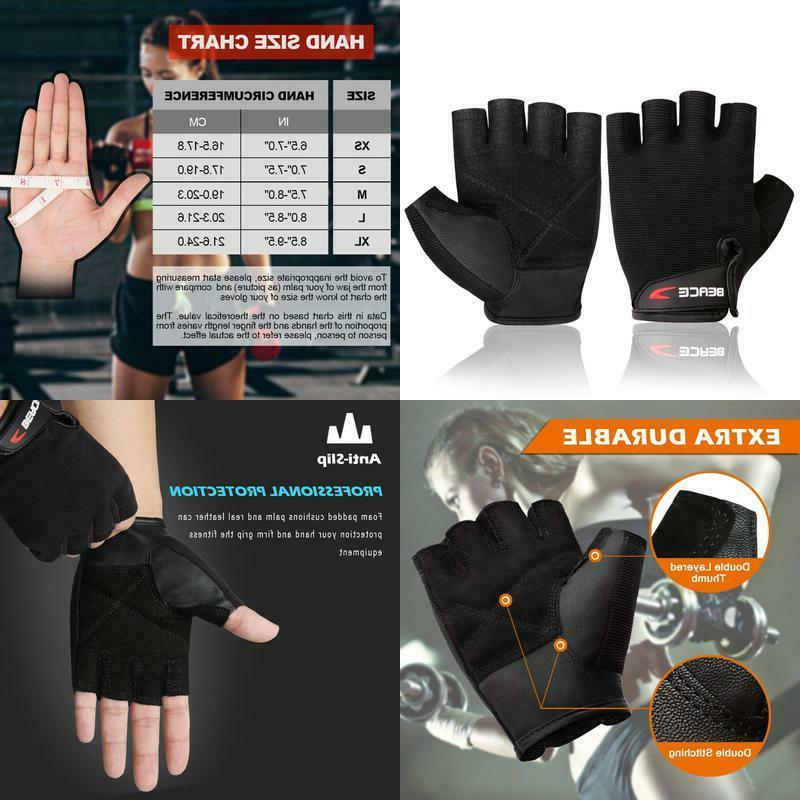weight lifting gym gloves with anti slip