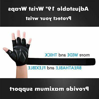 BEACE Weight Lifting Gym Gloves with Wrap Support Workout