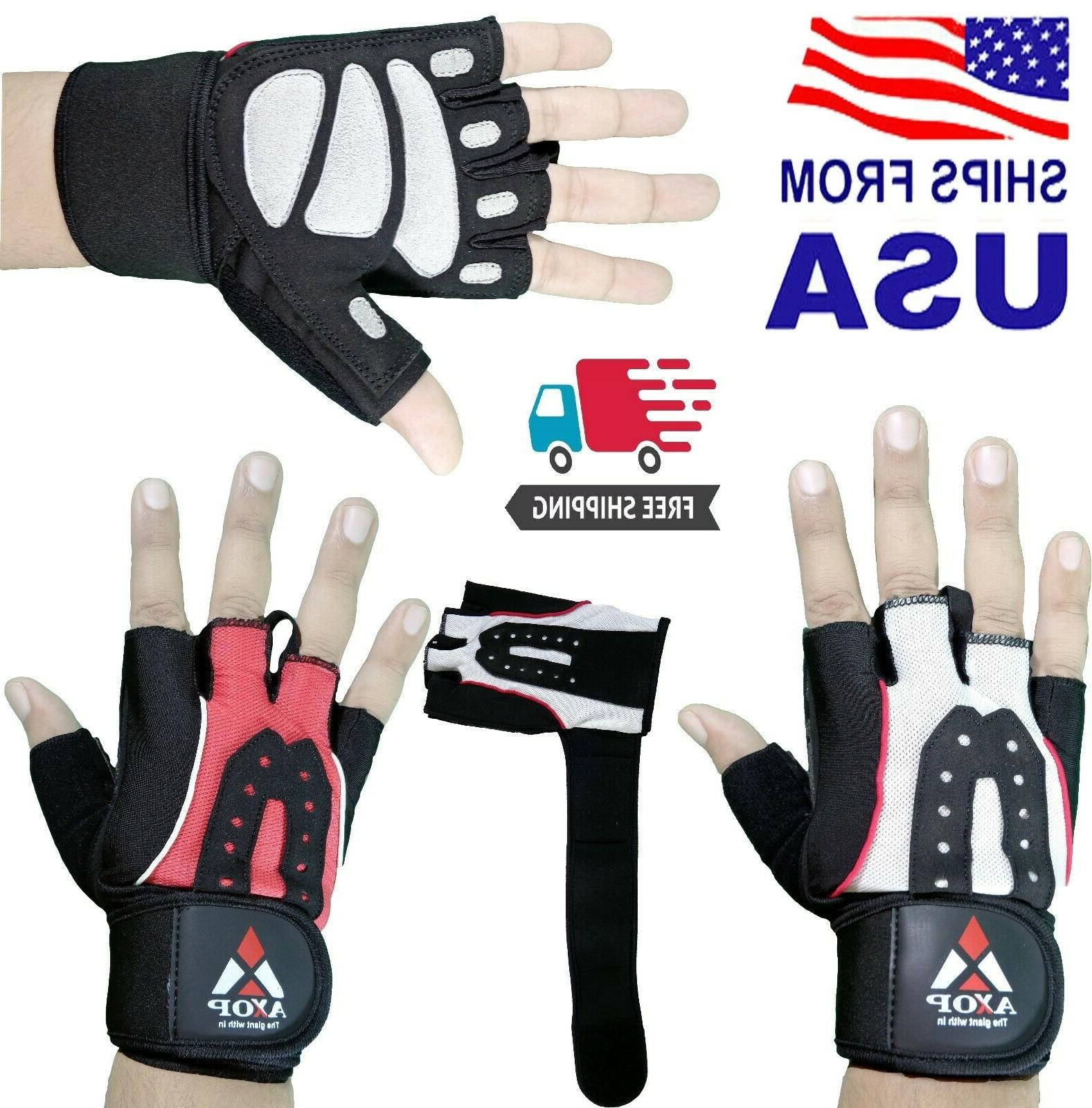 weight lifting gym gloves workout wrist wrap