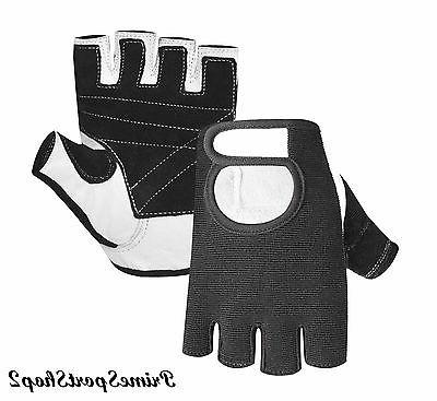 WEIGHT LIFTING PADDED GLOVES FITNESS BODY BUILDING GYM