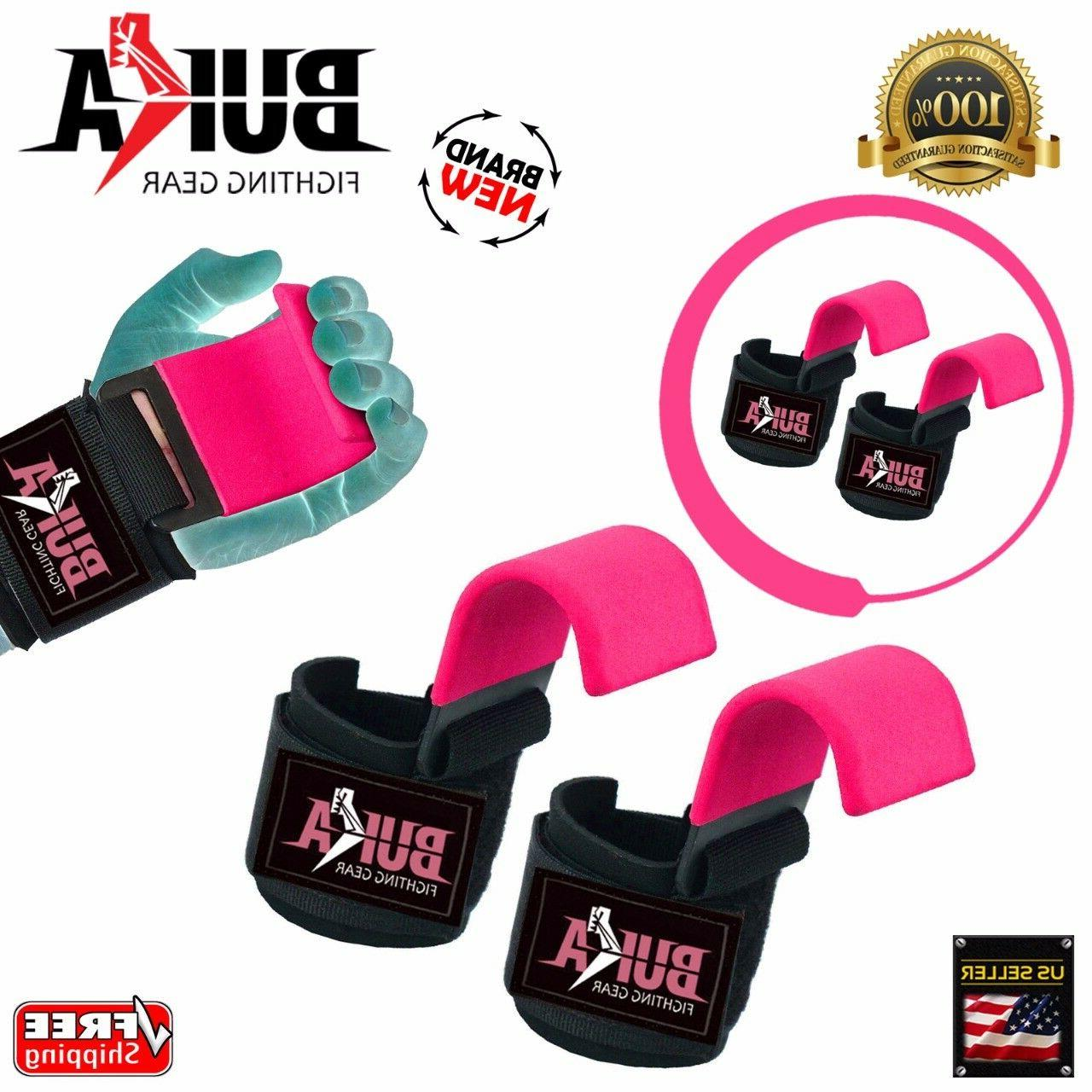 Weight Lifting Power Training Hook Grips Gloves Wrist Support