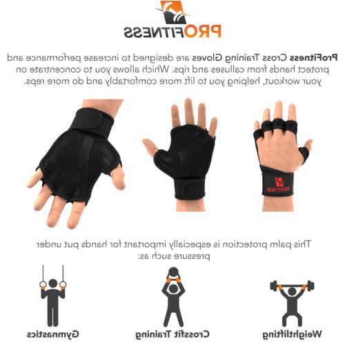 ProFitness Weight Ventilated Gloves Training Gloves Medium,