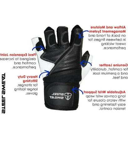 Steel Sweat Weightlifting - 18 Wrap Support-Workout,