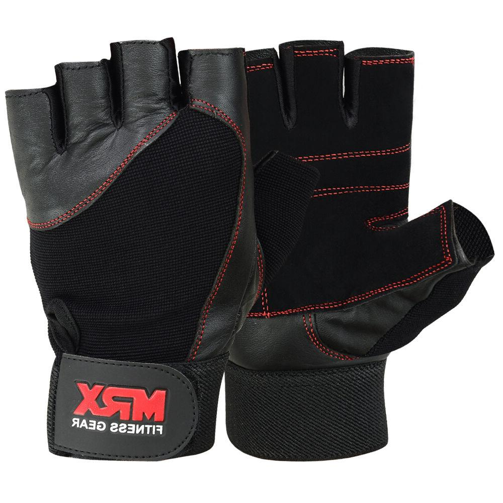 weightlifting gloves genuine leather fitness gym exercise