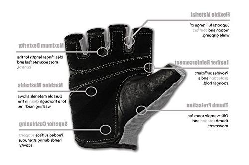 RIMSports - for Weight Gym Cycling Equipment Training Gloves with Weights