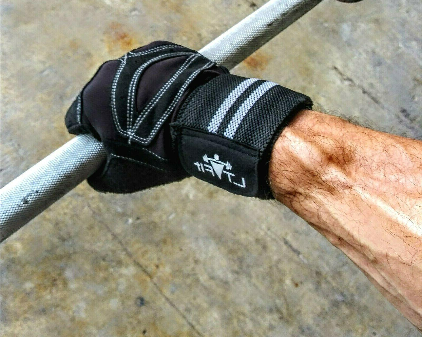 Women/Men Gloves Wrist Wrap Lifting Fitness New