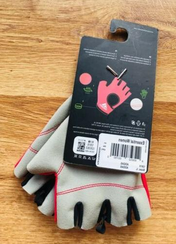Adidas Womens Essential Gloves Weightlifting Exercise Gym Workout