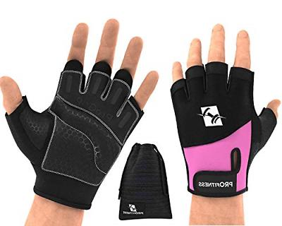 workout glove 4 medium black purple