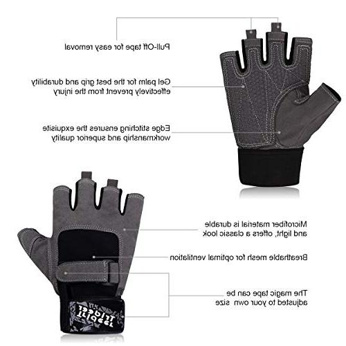 Trideer Gloves, Palm Grip, Gym Weight Lifting, Fitness, Exercise