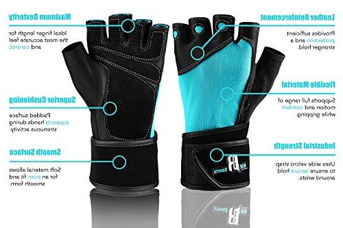 RIMSports Workout Gloves with Wrist Gym Gloves - Weight Gloves Wrap Support Gloves,