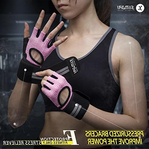 SIMARI Gloves Men,Training Gloves Fitness Gym Crossfit,Made Microfiber SMRG902(Pink