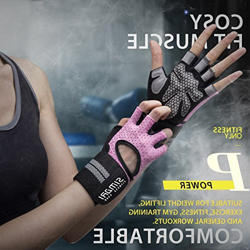 SIMARI Men,Training Wrist Fitness Exercise Gym SMRG902(Pink